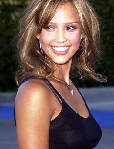 Vote for this picture Jessica Alba highlight honey brown hair color