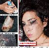 Singer Amy Winehouse pictures after fighting with her husband