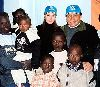 Adel Emam : Angeline Jolie picture with Adel Imam as the Goodwill Ambassadors for UNHCR with the kids of Africa