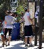 justin timberlake with his girlfriend Jessica Biel walking her dog Tina